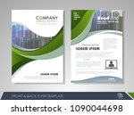 green annual report brochure... | Shutterstock .eps vector #1090044698