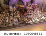 table with sweets  ice cream... | Shutterstock . vector #1090045586