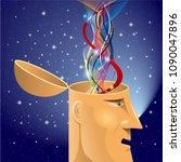 artificial intelligence concept ... | Shutterstock .eps vector #1090047896