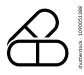 pills icon. flat illustration...   Shutterstock .eps vector #1090051388
