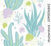 seamless underwater pattern... | Shutterstock .eps vector #1090056842