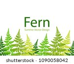 fern frond tropical leaves... | Shutterstock .eps vector #1090058042