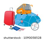 concept of travelling around... | Shutterstock .eps vector #1090058528