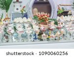 wedding table with sweets  ice... | Shutterstock . vector #1090060256