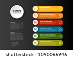 one two three four five six  ... | Shutterstock .eps vector #1090066946