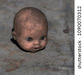 the terrible head from a doll.... | Shutterstock . vector #1090070312