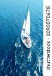 aerial photo of sail boat... | Shutterstock . vector #1090070678