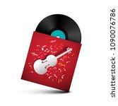 vinyl record   retro lp disc in ... | Shutterstock .eps vector #1090076786