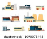 industrial factory and... | Shutterstock .eps vector #1090078448