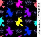 abstract seamless halloween... | Shutterstock .eps vector #1090093718