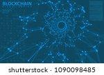 big data blue background vector ... | Shutterstock .eps vector #1090098485