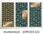 vector set packaging templates... | Shutterstock .eps vector #1090101122
