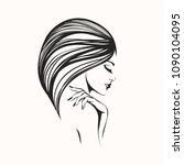beauty  hair and nail art salon ... | Shutterstock .eps vector #1090104095