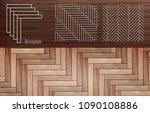 laminate  herringbone vector | Shutterstock .eps vector #1090108886