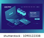 server room  operations with... | Shutterstock .eps vector #1090122338
