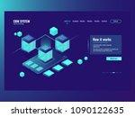 mobile data  incoming data flow ... | Shutterstock .eps vector #1090122635