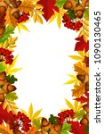 autumn frame of fall season... | Shutterstock .eps vector #1090130465