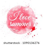 summer tropical background with ... | Shutterstock .eps vector #1090136276