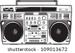 vintage boom box ghetto blaster ... | Shutterstock .eps vector #109013672