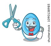 barber oxygen mask character... | Shutterstock .eps vector #1090138985