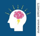 brainstorm concept. business... | Shutterstock .eps vector #1090140272