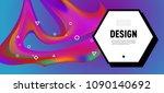 modern colorful flow poster.... | Shutterstock .eps vector #1090140692