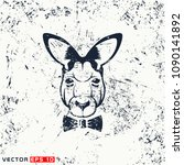 vector kangaroo head  hipster... | Shutterstock .eps vector #1090141892