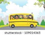 a vector illustration of kids... | Shutterstock .eps vector #109014365