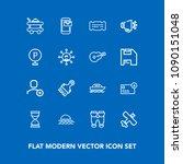 modern  simple vector icon set... | Shutterstock .eps vector #1090151048