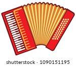 accordion vector illustration   Shutterstock .eps vector #1090151195