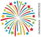 firework vector illustration   Shutterstock .eps vector #1090151522