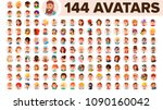 people avatar set vector. man ... | Shutterstock .eps vector #1090160042