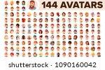 people avatar set vector. man ... | Shutterstock .eps vector #1090160042