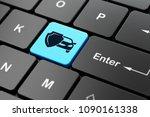 insurance concept  computer... | Shutterstock . vector #1090161338
