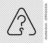 question mark in warning... | Shutterstock .eps vector #1090161626