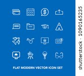 modern  simple vector icon set... | Shutterstock .eps vector #1090165235