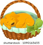 vector puppy sleeping in a...   Shutterstock .eps vector #1090165655