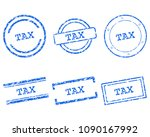 tax stamps on white | Shutterstock .eps vector #1090167992