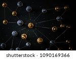 business relation connecting... | Shutterstock . vector #1090169366