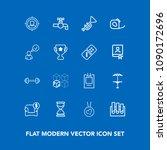 modern  simple vector icon set... | Shutterstock .eps vector #1090172696