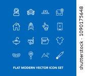 modern  simple vector icon set... | Shutterstock .eps vector #1090175648