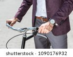 cropped shot of man in stylish... | Shutterstock . vector #1090176932