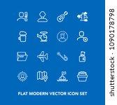 modern  simple vector icon set... | Shutterstock .eps vector #1090178798