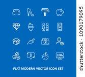 modern  simple vector icon set... | Shutterstock .eps vector #1090179095
