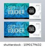 gift and discount voucher... | Shutterstock .eps vector #1090179632