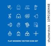 modern  simple vector icon set...   Shutterstock .eps vector #1090180448