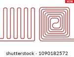 scheme of underfloor heating.... | Shutterstock .eps vector #1090182572