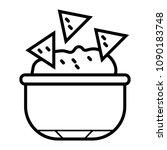 tortilla chip or nachos...   Shutterstock .eps vector #1090183748