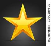 yellow star. vector...   Shutterstock .eps vector #1090189502