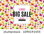 abstract summer sale background ...   Shutterstock .eps vector #1090191455